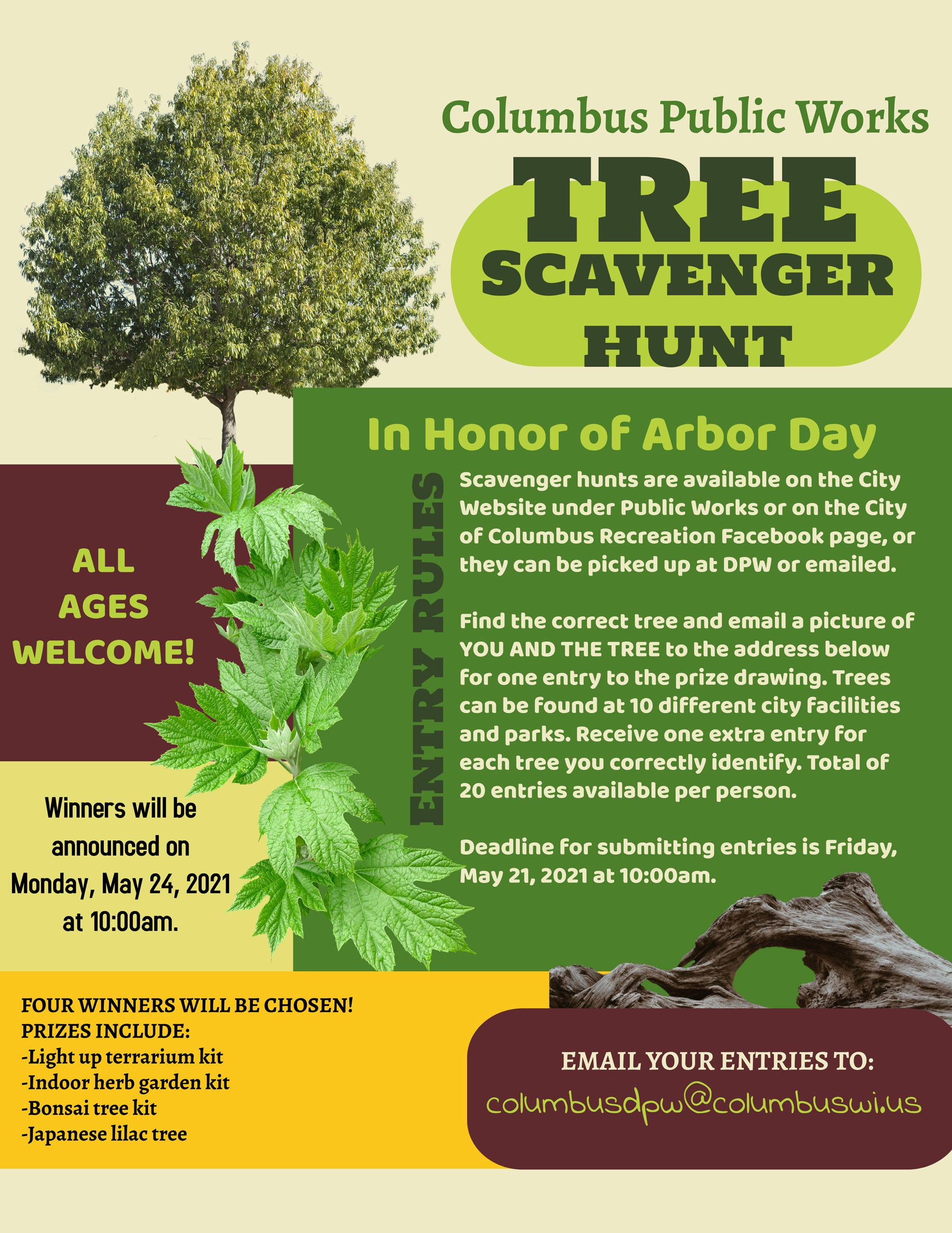 Tree Scavenger Hunt Flyer